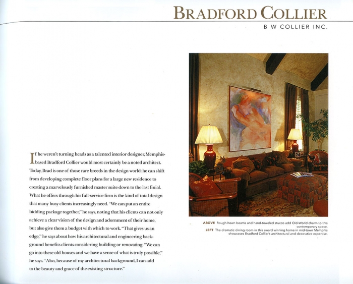 BW Collier press from Spectacular Homes of Tennessee