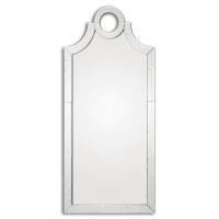 Ulysses Mirror Features a Lightly Antiqued Mirror Frame