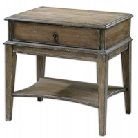Weathered Pine Side Table with Single Drawer.  Sunwashed with Burnished edges.  This is a great night table also.