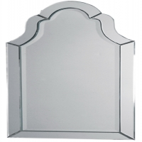 Frameless Arched Mirror.  Simple Elegance.