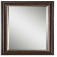 Ummi Mirror Features A Dark Bronze over GoldFinished Frame. This is a mirror set. You will recieve 2 mirrors for this price.