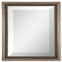 Umeko Mirror Features a Wood Frame with Heavily Antiqued Silver Finish.  This a Set of Mirrors at this price.  You will recieve 2 mirrors.