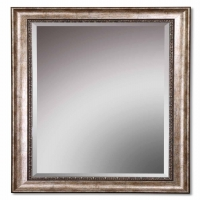 Uorsin Mirror Features a Wood Frame with Heavily Antiqued Silver FInish. This is a morror set. You will recieve 2 mirrors at this price.