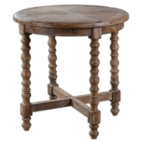 Rustic Round Side Table made Frome Reclaimed Woods. Each Table is Unique