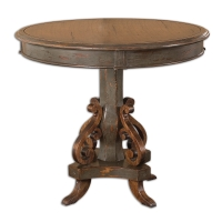 Mahogany Wood Table with Distressed Grey Painted Finish.  Generous size would be perfect for a center table.