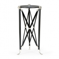 Waldemar- Neoclassic Iron and Brass base with Marble Top
