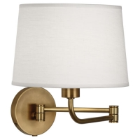 Raheem- Swing arm Wall Sconce Featured in Soft Brass Fixture Holds 1 A Lamp, 100 Watt max (Not Included). U.L. Listed