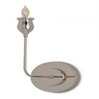 "Calandra- Wall Light, Single Elegant Stem in Polished Nickel 1 Bulb- ""B"" base, 60W"