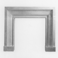 """ABAY Cast Stone Fireplace Surround can be used Indoor or Outdoor. There are several Stone FInishes Avail. Custom Sizing is NOT avail. Fire Box Dimensions are 48""""w x 42""""h. Ships in 3 pieces and is crated. You will need a reciever to order this item (fees not included in the price listed). Allow 8-10 weeks for delivery of this item."""