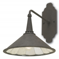 Industrial Chic Overhead Wall Scone with Mirror Lined Shade Hold 1 A Lamp- 60 Watt max (Not Included). U.L. Listed