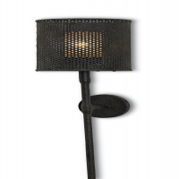 Industrial Modern Wall Sconce with Metal Mesh Shade Holds 1 B Lamp- 60 Watt Max (Not Included). U.L. Listed