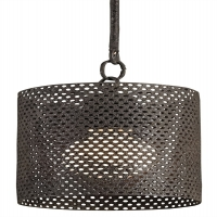 Industrial Modern Pendant Light with Metal Mesh Shade Holds 1 B Lamp- 60 Watt Max (Not Included) U.L. Listed