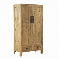 Fadley Armoire- Tall Cabinet is constructed of reclaimed elm wood.  The Cabinet features clean modern asian styling.