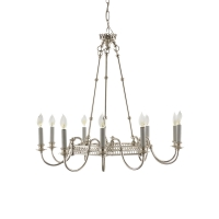 Caia Chandelier- Chrome Plated Fixture with 9 Lights Holds 9 B Lamps- 60 Watt max Each (Not Included) U.L. Listed