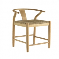 Fahari- Solid Oak Counter Stools.  Bleached Finish with Modern Asian Styling