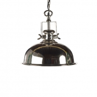 LaDonna Dome Pendant in Polished Nickel Holds 1 A Lamp- 60 Watt Max (Not Included) U.L. Listed