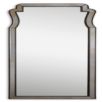 UMAR Mirror- hand beveled, lightly antiqued outer mirrors accented with a dark mocha frame.