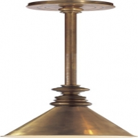 Classic Stem Pendant Light with Metal Cone Shade Holds 1 B Lamp- 60 Watt Max (Not Included) U.L. Listed