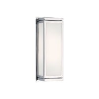 Rahm- Small Wall Sconce Featured in Chrome Finish Fixture Holds 2 B11 Torpedo bulbs, 60 Watt max Ea (Not Included). U.L. Listed