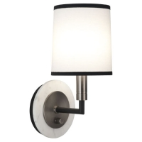 Rafiqa Modern Single Wall Light Featured with White Marble Back Plate. Fixture Holds 1 B10.5 Bulb, 60 Watt Max (Not Included). U.L. Listed