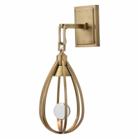 Adora Wall Light Features a Glass Ball Nested in a Metal Cage light by a MR16 Down Light 1 Bulb- MR16 35W