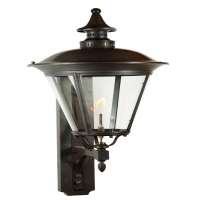 Exterior Gas Lantern with French Styling in Antique Copper.  Each lantern is made by Hand in the USA.