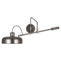 Raeanne Modern Swing Arm Wall Light Shown in Gun Metal Finish Fixture Holds 1 A Lamp, 60 Watt Max (not included). U.L. Listed