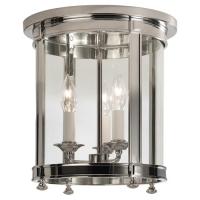 Rafe Ceiling Mount Light Featured in Polished Nickel Fixture Holds 3 B Bulbs, 60w max (Not Included) U.L. Listed