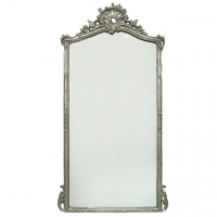 Mirror with Silver Leaf Finish and French Styling. Only 1 Avail.