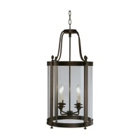 Rafe Medium Transitional Lantern Featured in Bronze Fixture Holds 4 B Lamps, 60w max (not included) U.L. Listed
