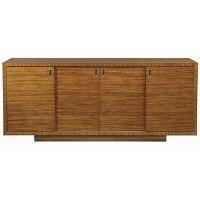 Easton Credenze/Sideboard is Constructed of Hardwoods Veneered in Zebrano Wood. The Case has 4 Sliding Doors revealing 4 insterior adjustable shelves.