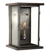 Exterior Modern Gas Lantern in Blackened Copper.  Each Lantern is hand crafted in the USA.  Custom Variations are welcome.